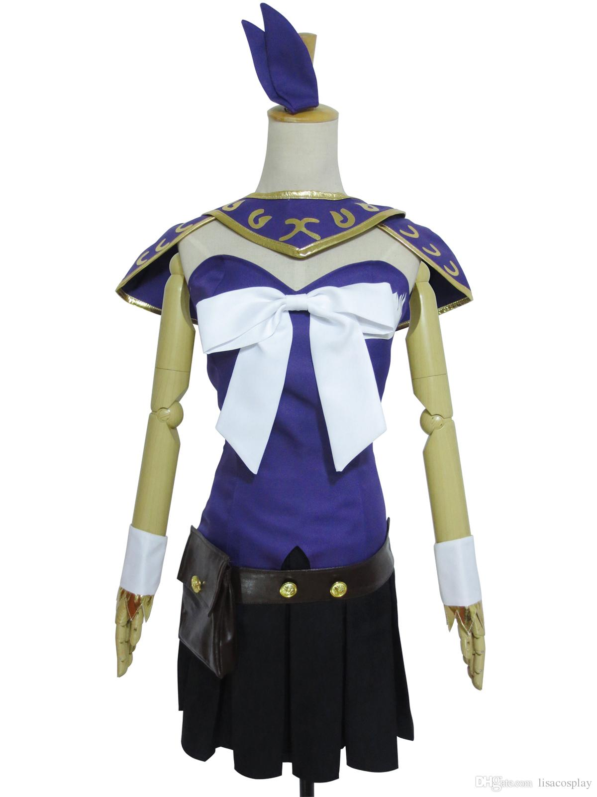 New Fairy Tail Lucy Heartfilia Cosplay Costume Purple Version