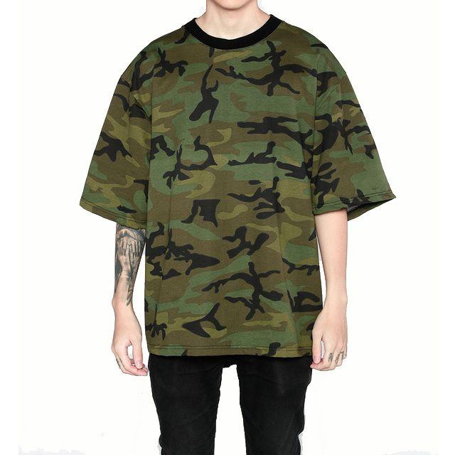 7768b580 Men Hip Hop Camo T Shirts Short Sleeve O Neck Oversized Cotton Tees Kanye  West Streetwear Men Women Summer Casual Shirts SHG1103 Best T Shirt Online  Buy ...