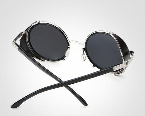 Steam punk Europa e Stati Uniti occhiali da sole rotondi occhiali da sole da uomo e da donna E005