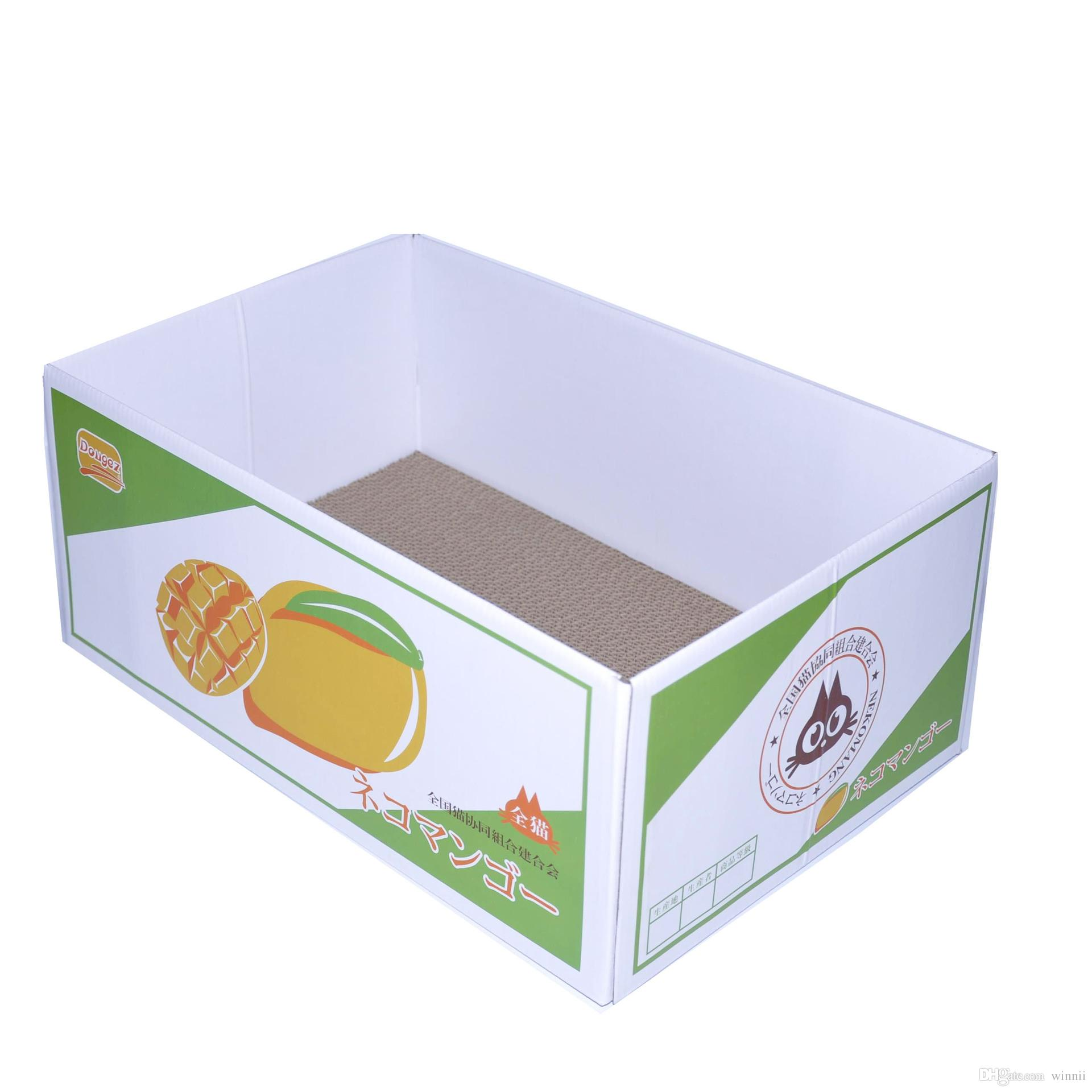 Cute Corrugated Cat Nest Paper Box Scratch Sofa House Portable Pet Cat Bed Litter Toy for Grinding Board