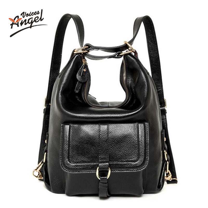 Wholesale- American Luxury Genuine Leather Women Shoulder Bag ... 0f4099e3d611b