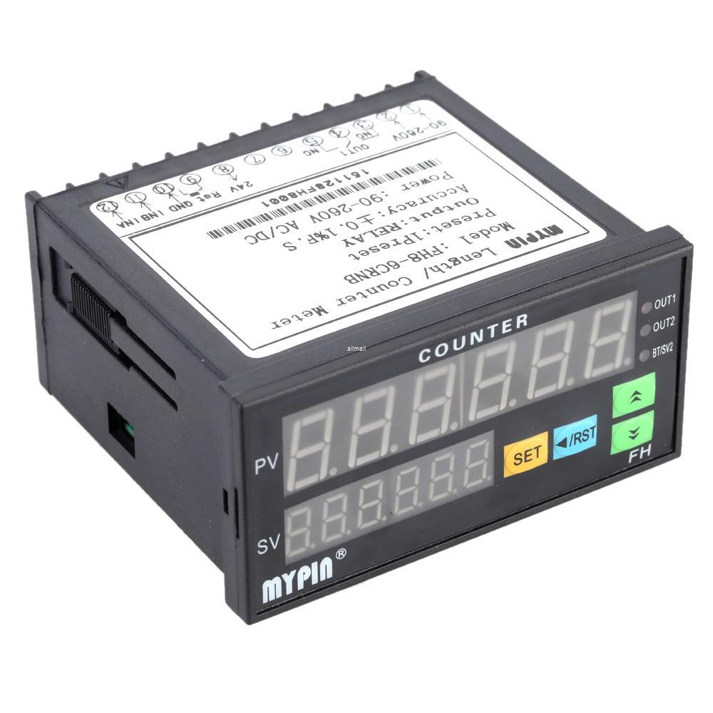 2018 90 260v AcDc Digital Electronic Counter Length Batch Meter 1