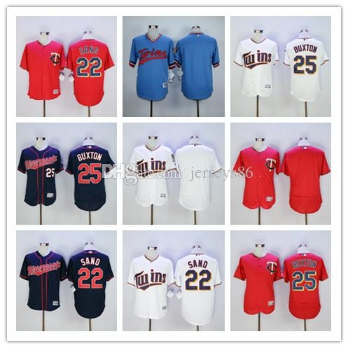 bafced1f92a ... 22 Miguel Sano Jersey 2017 Minnesota Twins Flexbase Baseball 25 Byron  Buxton Jerseys Cheap Pullover Red ...