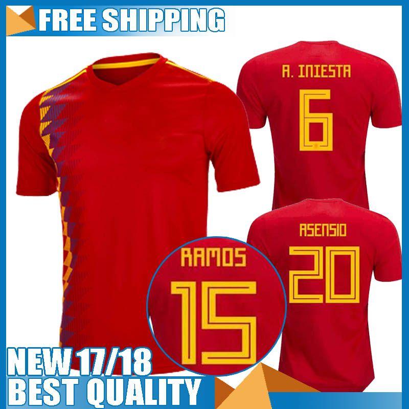 2020 Thailand Camisetas De Futbol ASENSIO MORATA ESPANA ...