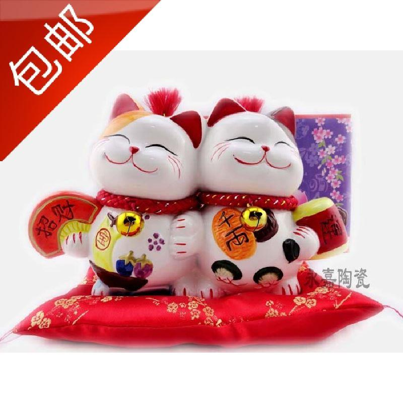 2019 Ceramic Lucky Cat Ornaments Piggy Bank Home Furnishing Gift