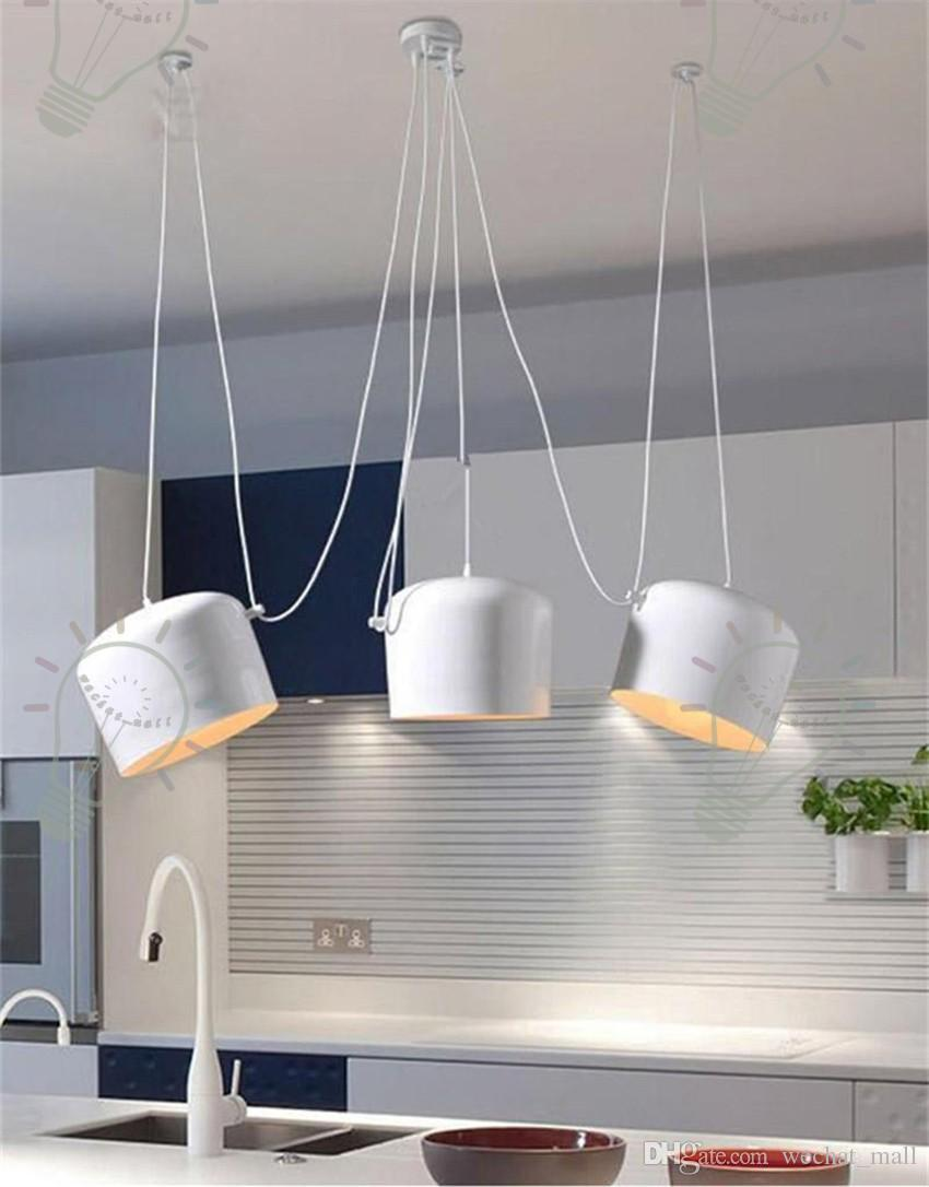 Discount Led Lights Aluminium Flos Aim White/Black E27 Pendant L& Lights Led Bulb Grow Lights Bar Living Room Droplight Lighting Chandelier Cheap Pendant ... & Discount Led Lights Aluminium Flos Aim White/Black E27 Pendant ... azcodes.com