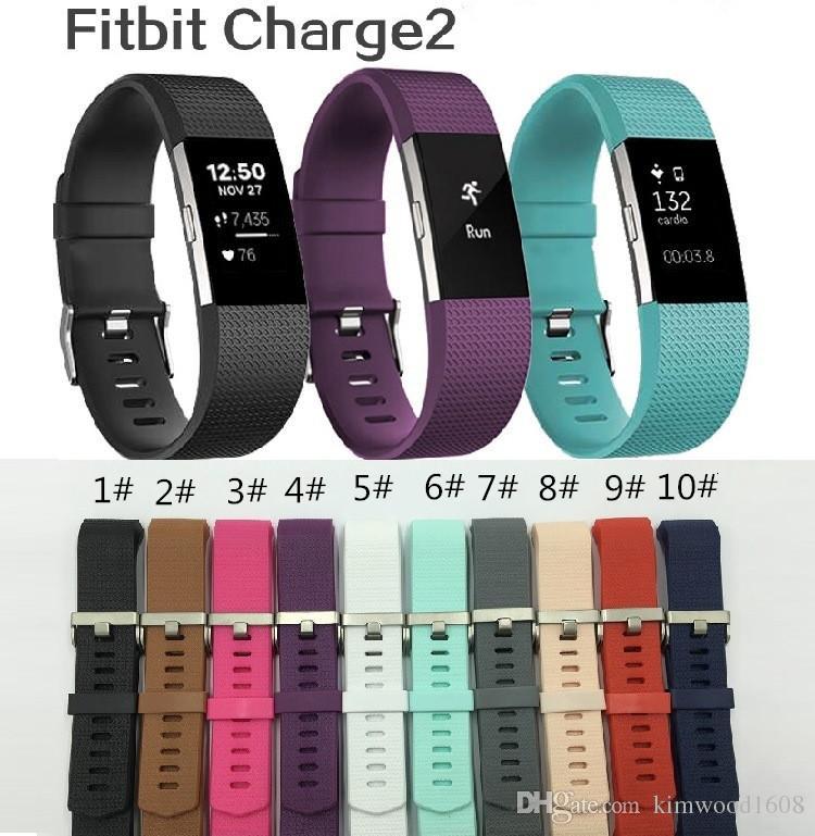 Для Fitbit Charge 2 Силиконовая замена группа красочные мягкие силиконовые спортивные часы замена полосы для Fitbit Charge 2 с OPP пакет