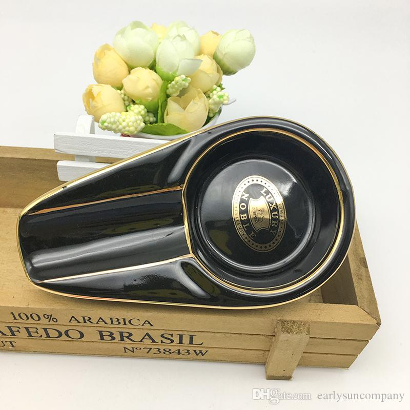 Yeni Varış Taşınabilir Küllük Mini Sigara Küllük Metal Cep Sigara Puro Küllük Siyah renk ücretsiz kargo
