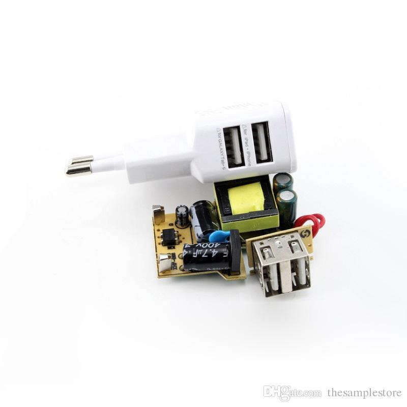 5 V 2A AB Çift 2 USB Portu Tak Ev Duvar Şarj cep telefonu Için Mini AC Güç Adaptörü cep telefonu için, akıllı telefon