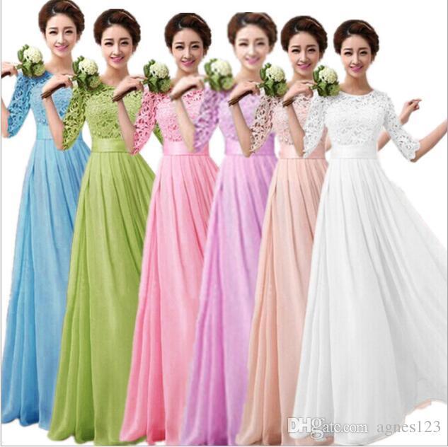Compre Vestidos De Boda Formales Largos Del Vestido Del Vestido De ...