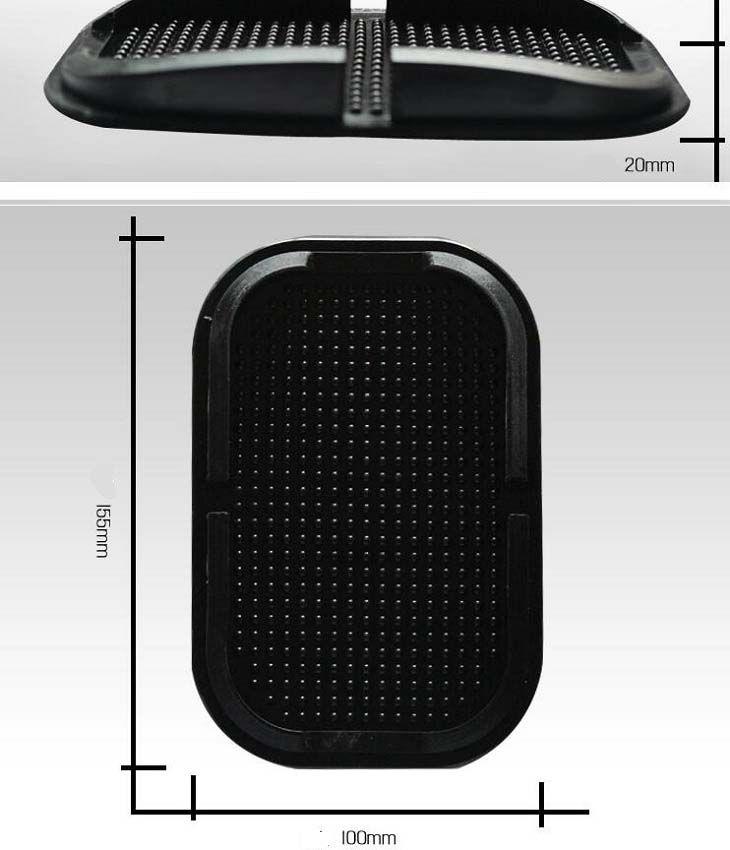 Voiture Anti Slip pad En Caoutchouc Mobile Sticky stick Dashboard Téléphone Étagère Anti-dérapant Tapis Pour GPS MP3 voiture DVR titulaire antidérapant mat
