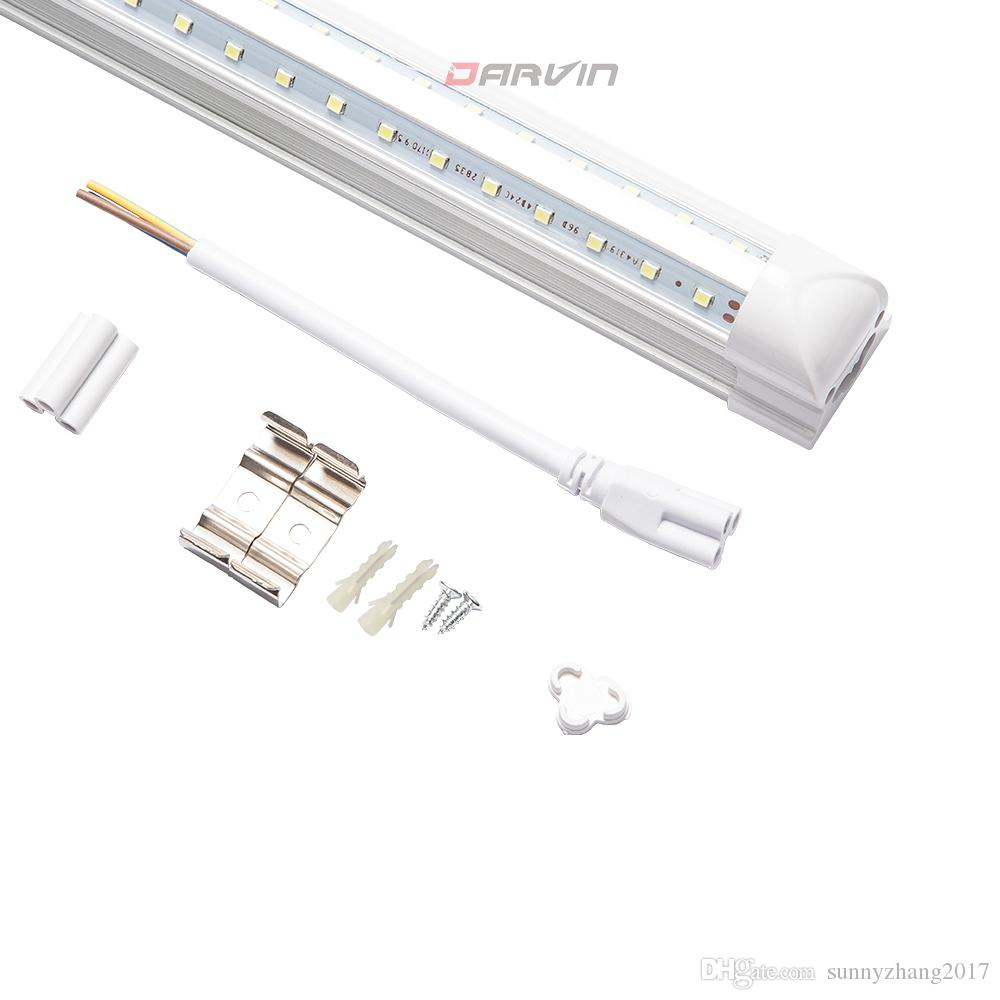 T8 Led Tube 4ft V-Shade Integrated Fluorescent Led Light 1200mm 28W Super Bright 270 Degree Beam Angle Lamp Top Sales