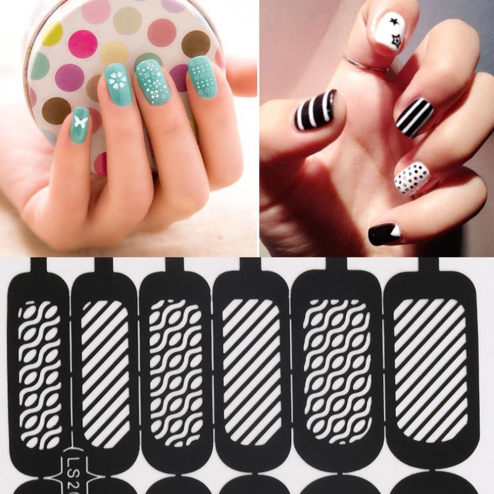Wholesale Easy Reusable Stamping Diy Nail Art Template Stickers ...