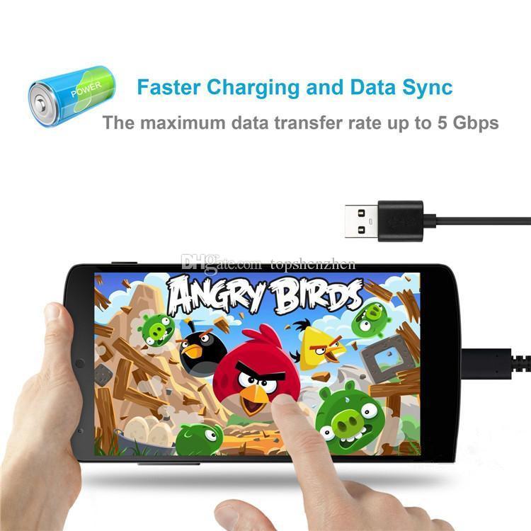 Câble USB Type C Câble de synchronisation de données pour homme USB 3.1 Type C pour nouveau Macbook 12 pouces tablette N1 Google Chrome Pixel Note7