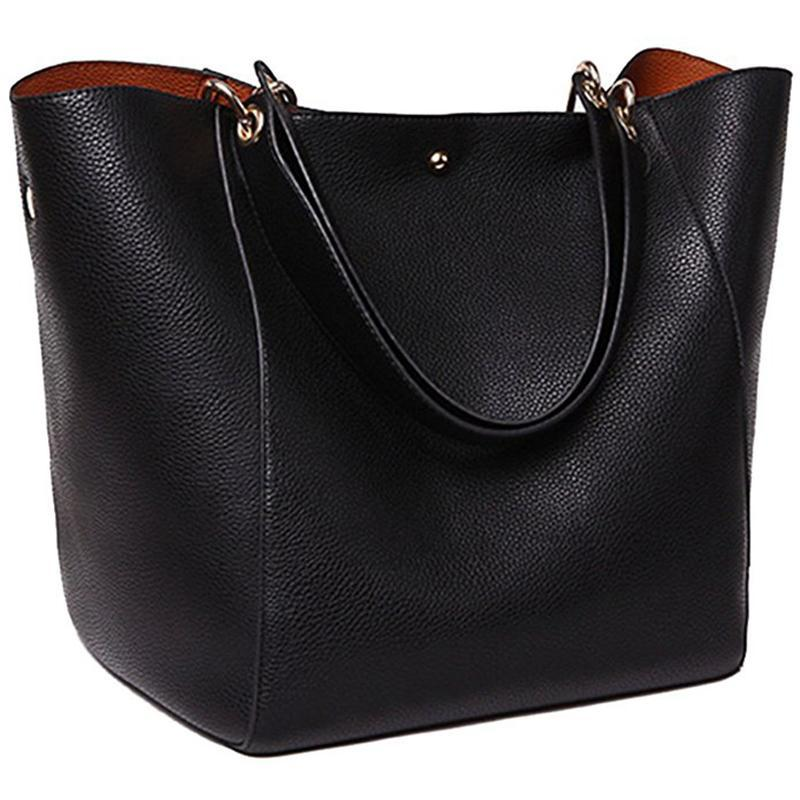 8b5ef04c5260 Fashion Bags Shoulder Women S Leather Handbags PU Plain Ladies Waterproof Shoulder  Bag Tote Bags Women Totes Ladies Handbags Leather Handbags From ...
