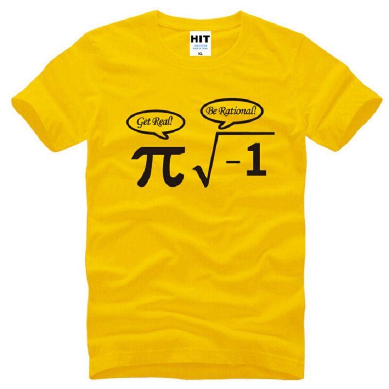 998ec9963 ... Be Rational Get Real Nerdy Geek Pi Nerd T Shirts Men Cotton Cool Math  Nerd Printed ...