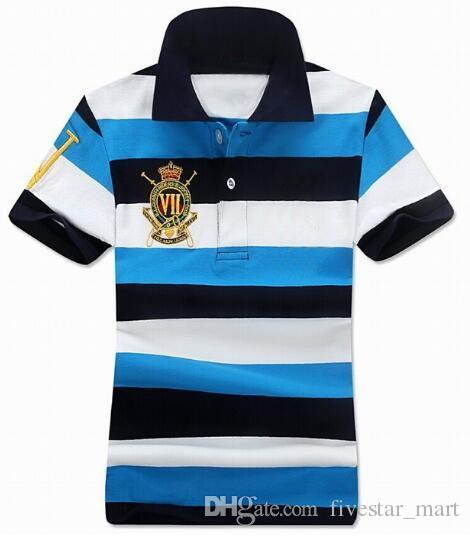 Hot Buy US 2017 Women Striped Polo Shirt Big Horse Short-Sleeve Polo shirt Grils Polos Homme Mens Camisas Ladies Polo Shirts