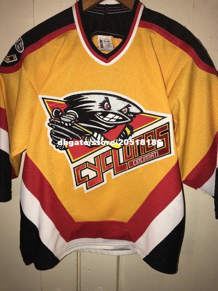 Cheap Custom EUC CINCINNATI Cyclones Vintage Bauer Minor League Jerseys IHL  ECHL Stitched Men S Hockey Jersey UK 2019 From Nfljersey1 47201dc0a2c