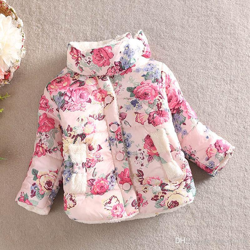 220b2cf4c Baby Winter Cotton Padded Clothes Children Quilted Jacket Girls ...