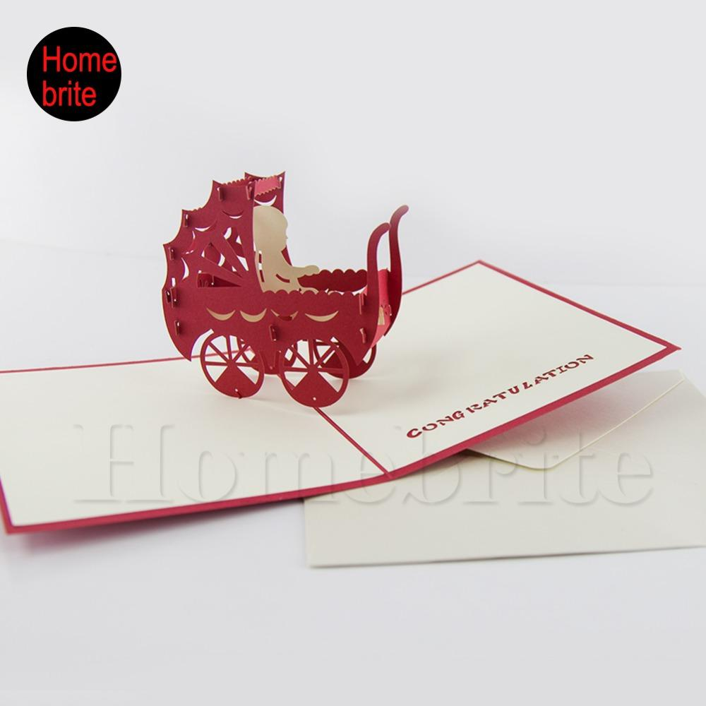 Wholesale Baby Birthday Party Invitation Handmade 3D Pop UP Paper Cards With Envelope Custom Personalized Printing PT068 Adult Animated