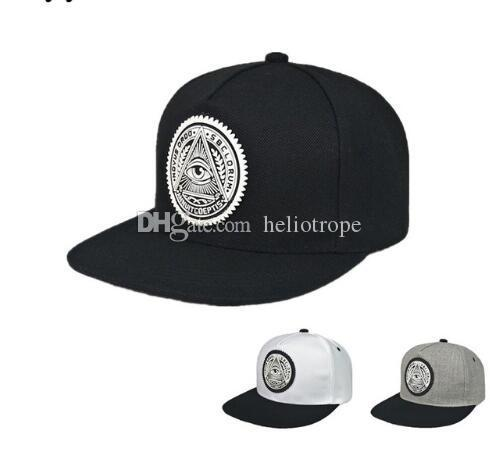 2017 Fashion Round Label Triangle Eye Illuminati Snapback Caps Women  Adjustable Baseball Cap Snapbacks Hip Hop Hats Hats Online Cap Online From  Heliotrope 3afa1640bca
