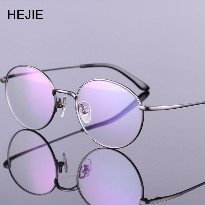 Wholesale- Fashion Men Women Pure Titanium Eyeglasses Frames Round Full Frame 4 Color Y1001