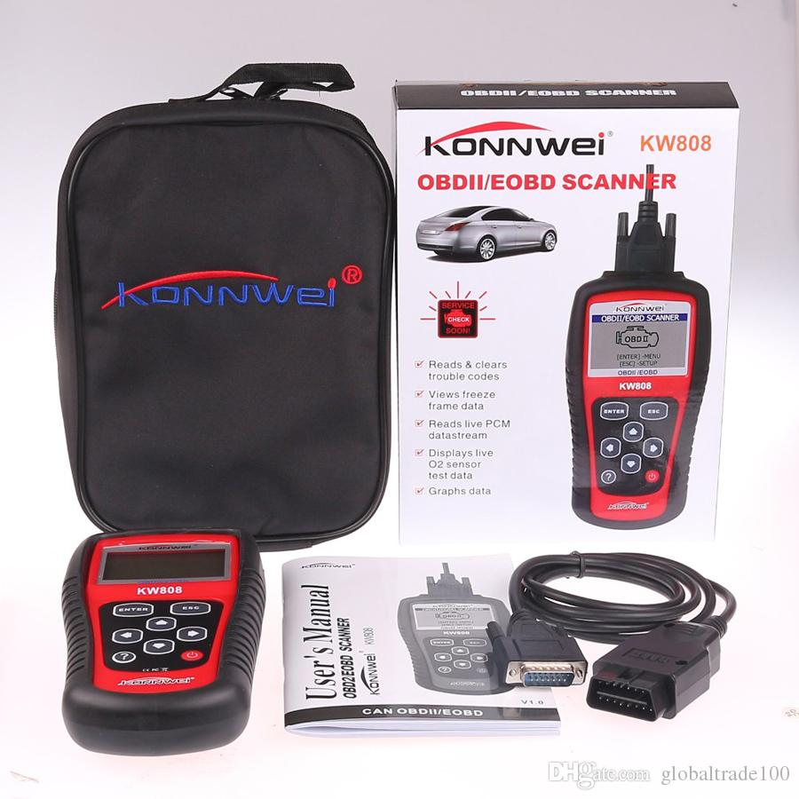 New KONNWEI OBD2 Scanner KW808 Car Diagnostic Code Reader CAN Engine Reset Tool for US/Asian/European Vehicles MS509