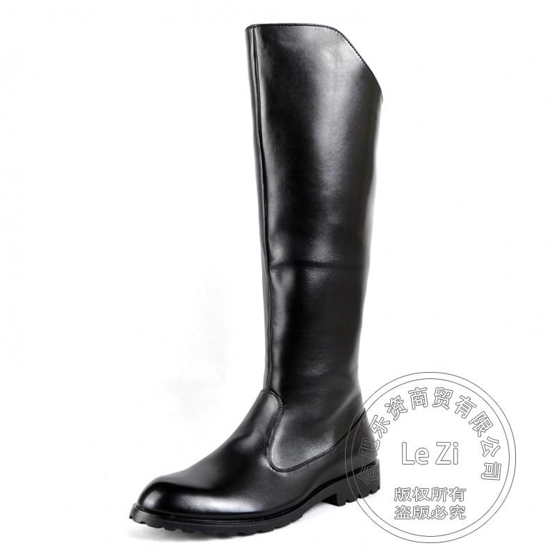 horse riding leather knee boots motorcycle fashion men shoes winter