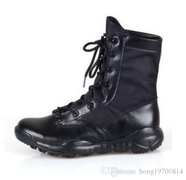 Wysokiej Jakości 201 Nowe Buty Armii Męskie Buty Tactical Buty Desert Outdoor Turystyka Skórzane Buty Wojskowe entuzjastów Buty walki