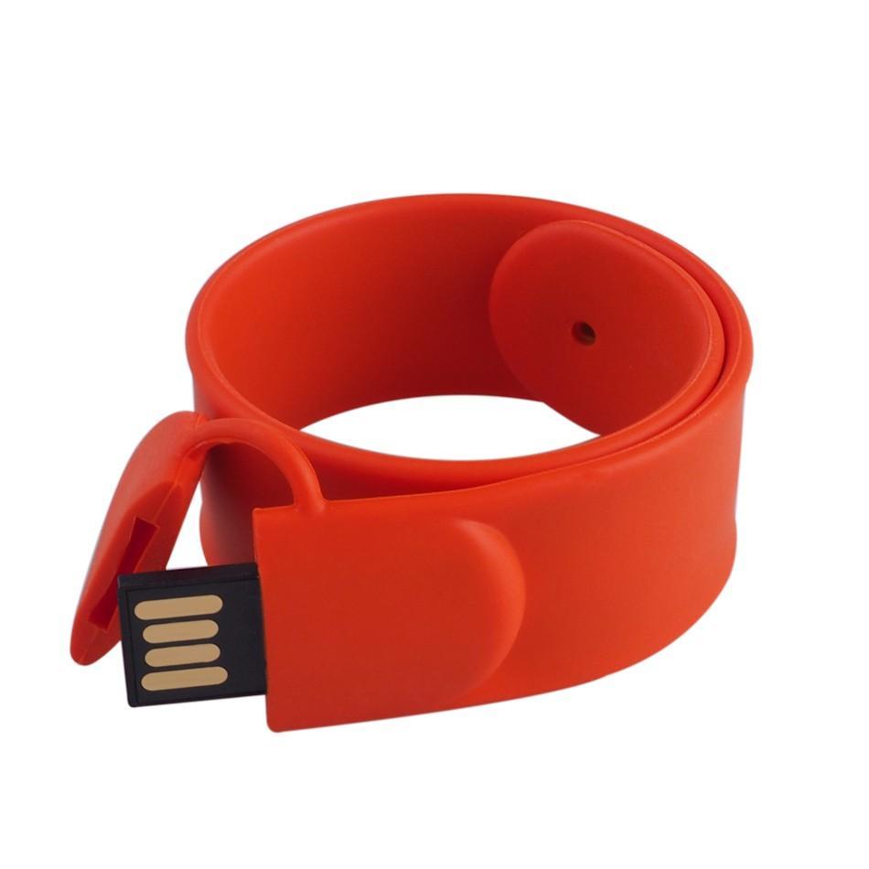 New 2.0 Silicone Bracelet Cute Wrist Usb Flash Drive 128GB Pendrive 64GB 16GB 32GB Pen Drive Gift Memory Stick Mini Key