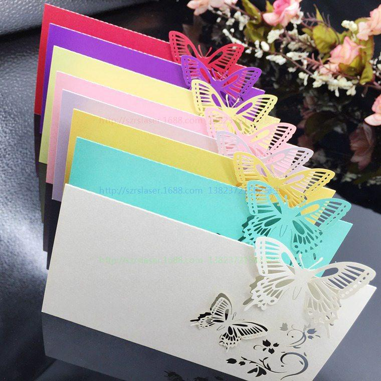 Wholesale wedding supplies pack pierced laser cut butterfly wedding wholesale wedding supplies pack pierced laser cut butterfly wedding party table name place cards wedding invitations 5cd034 greeting card paper greeting m4hsunfo
