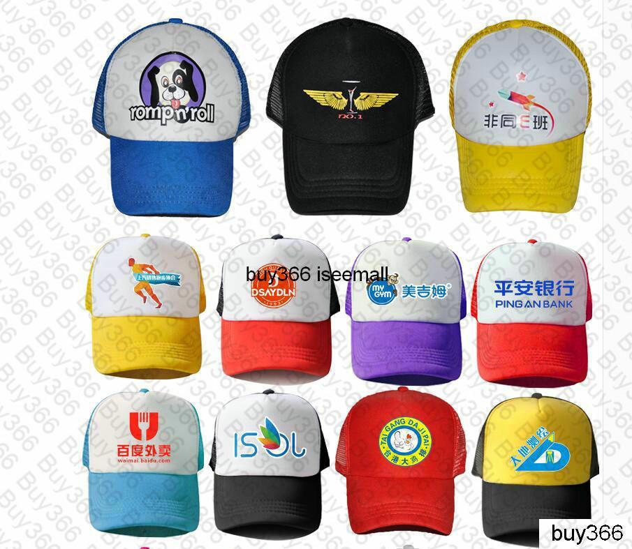 Trucker Caps Publicidad Sun Mesh Cap Election Hats Actividades en blanco Snapback Truck Caps Factory Custom LOGO Hombres Mujeres Béisbol Flat Hat