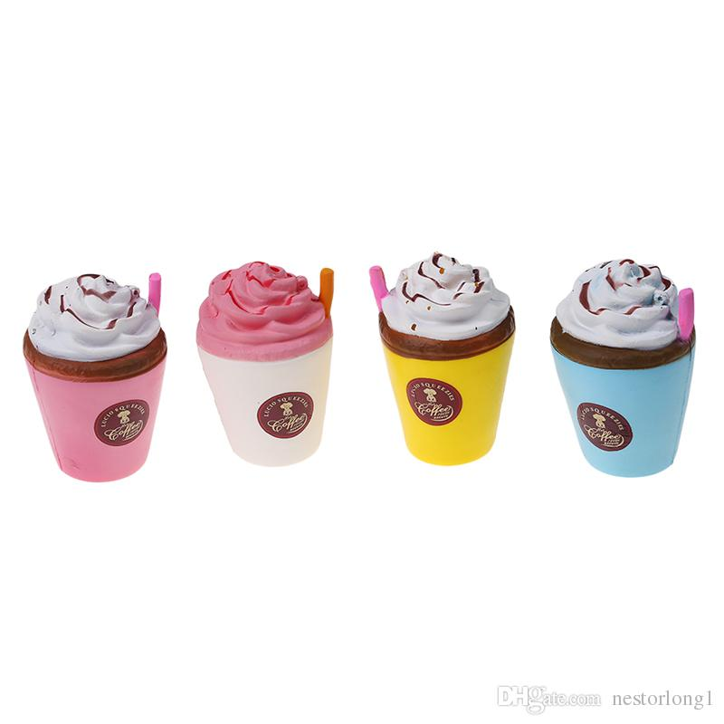 11CM Stress Reliever Slow Rising Squishies Tasse À Café Kawaii Parfum Jouets Pour Enfants Et Adultes en gros