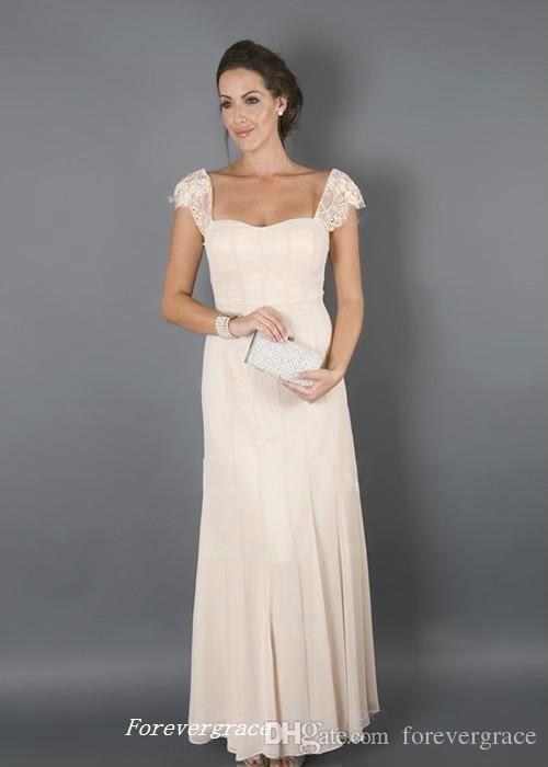 Elegant Champagne Cor Com Casacos Mãe da Noiva Vestidos Formais Madrinha Mulheres Desgaste Convidados Do Casamento Da Noite Vestido Plus Size