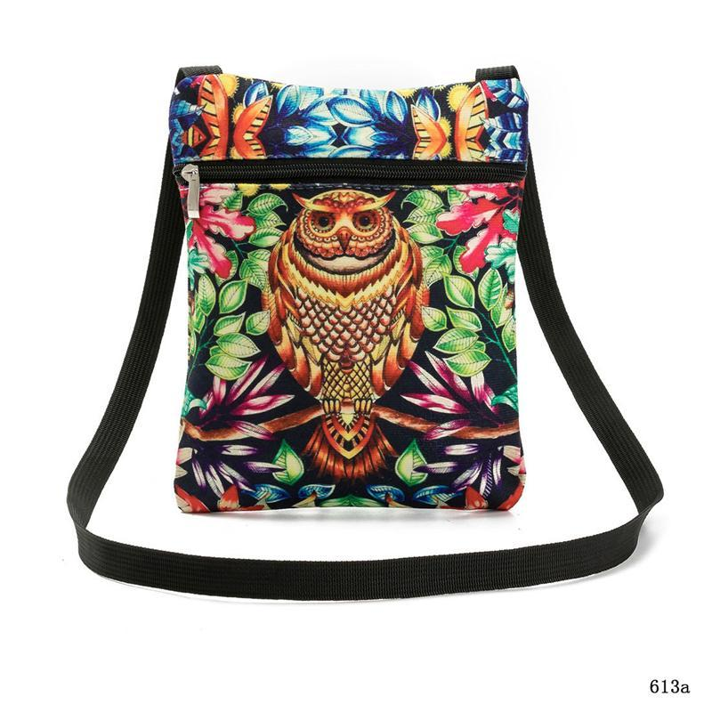 2017 Owl Print Women Messenger Bag Female Flap Shoulder Bags Colorful 3D Animals Printed Small Bags Women Casual Canvas Bag