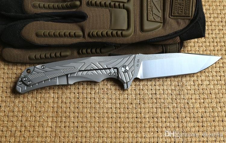 Y-START original VG10 Klinge Titan Griff Keramikkugel Lager taktische Flipper Klappmesser Outdoor Camping Überleben Messer EDC Werkzeuge