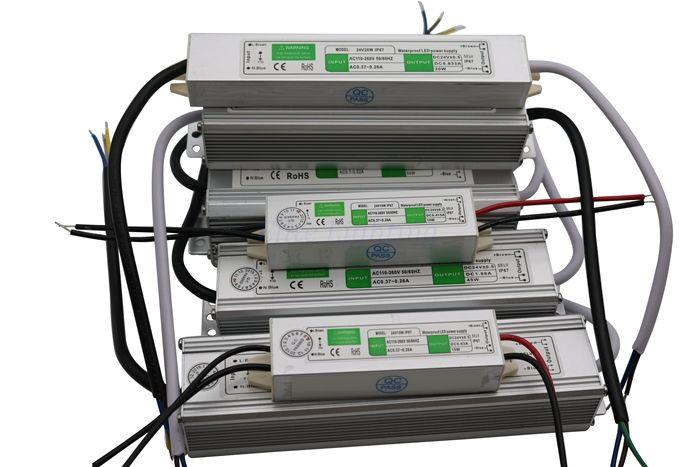 Ücretsiz Nakliye Sıcak Satış IP68 Su Geçirmez anahtarı güç kaynağı 20 W 12 V 1.7A LED güç kaynağı 12 V ve 24 V DAİREMİZ