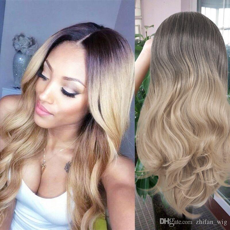 Z&F Fluffy Long Hair Platinum Llonde Human Hair Deep Wave