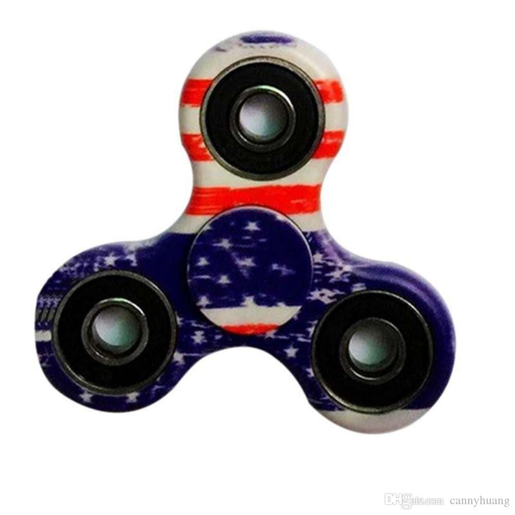 American Flag Fidget Spinner Game Camouflage Finger