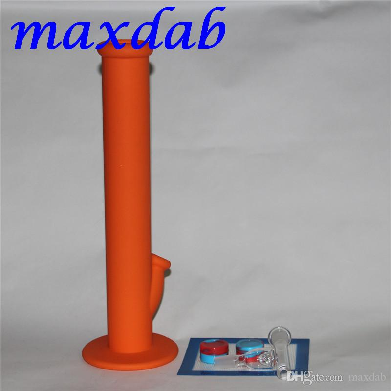 Silicone Wax container with square sheets pads mat silicone bong silicon water pipe dabber tool for dry herb jars dab