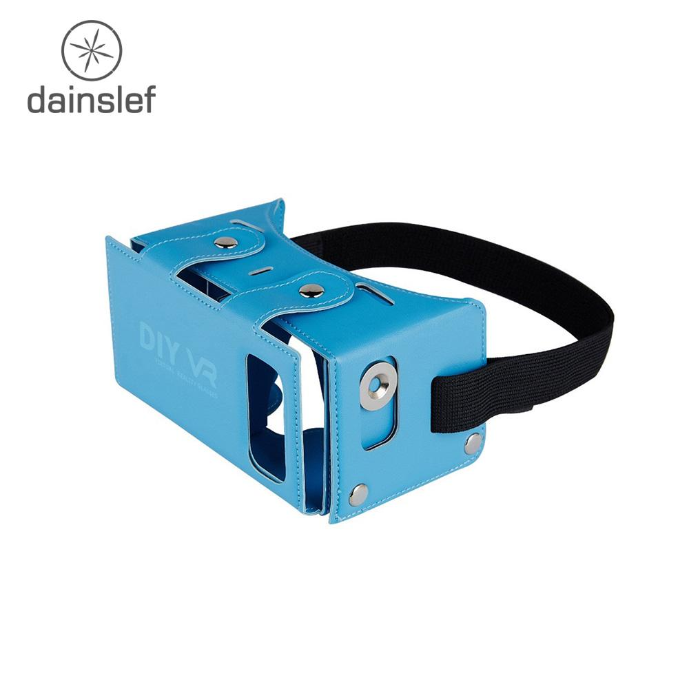 7abde33653d3 Wholesale DIY PU Leather 3D VR Box Virtual Reality Headset Game Movie  Glasses Google Cardboard For 4 5.5 Inch Smart Phone Real 3d Glasses Reald 3d  Glasses ...