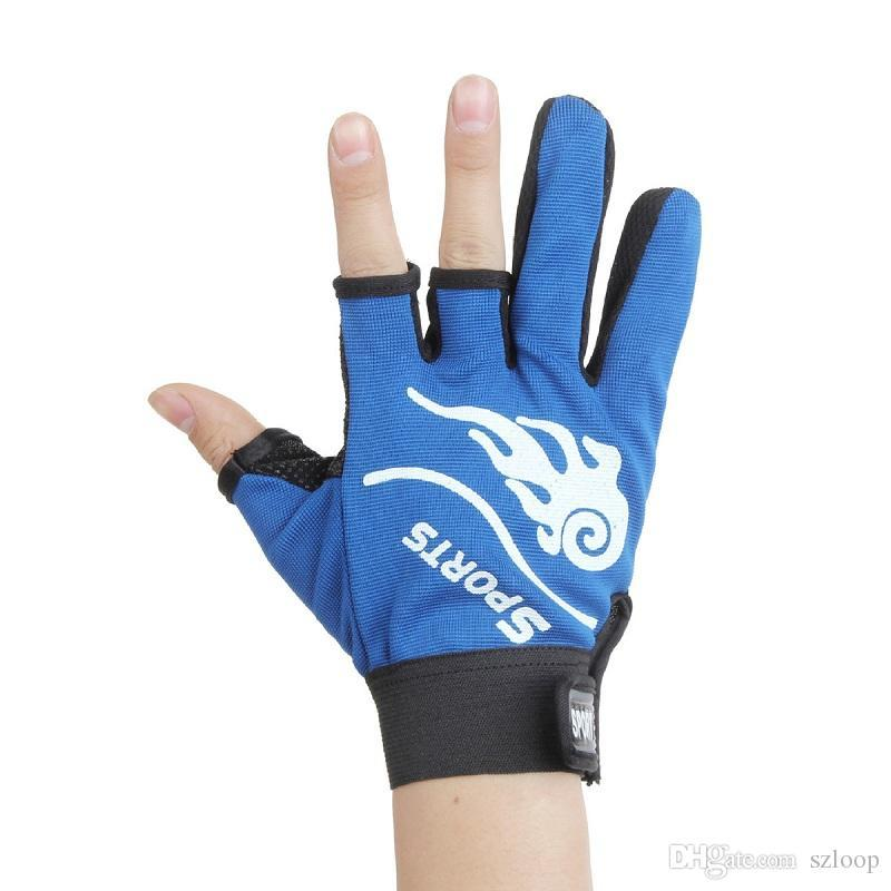 Men Fly Fishing Gloves Outdoor Hunting Gloves Three Cut Finger Fishing Glove Neoprene Anti Slip Anti-Cut 4 Colors Wholesale 2508064