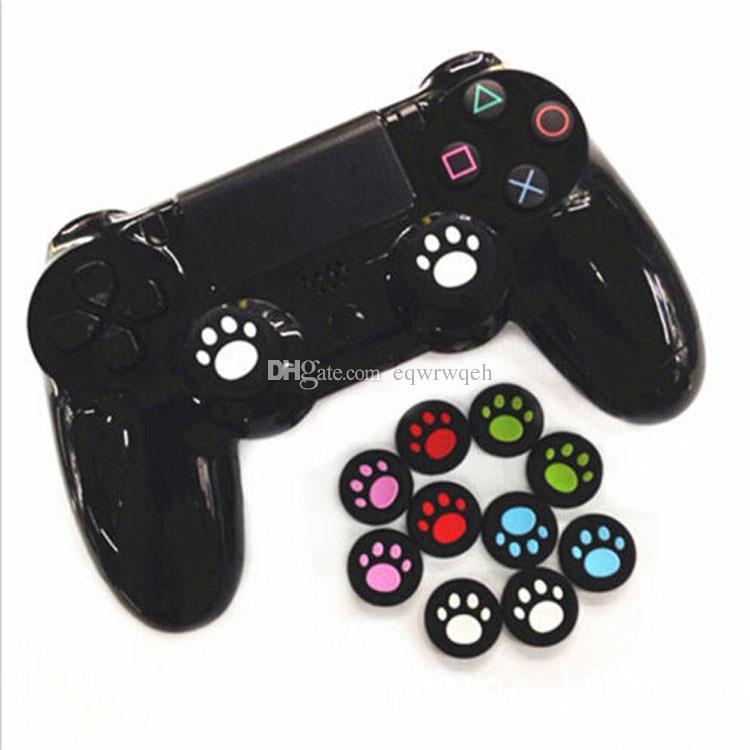 Кошка Коготь дизайн противоскользящие силиконовые большой палец ручки ручки ручки крышки для Sony PS4 PS3, XBOX ONE / 360 игровой контроллер