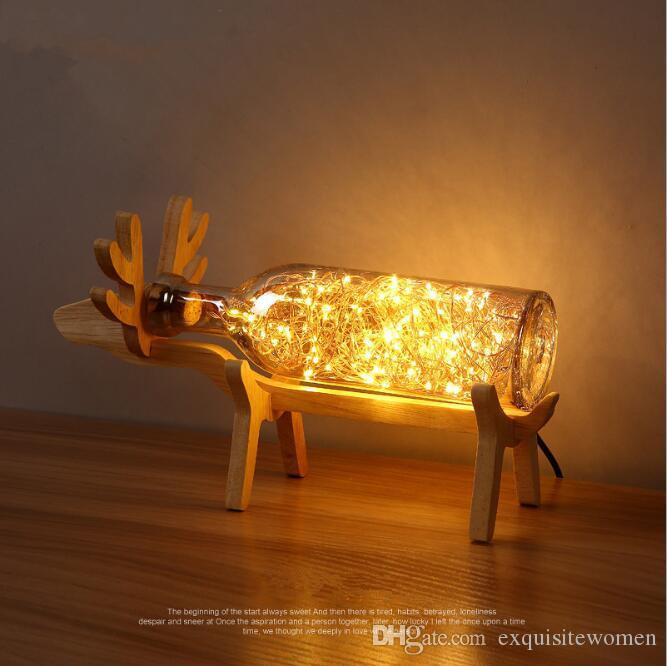 wooden table lamps for living room. 2018 Led Wooden Nordic Lamps Personality Table Simple Modern Bedroom  Decoration Study Living Room Desk Lights Deer Shaped Base From Exquisitewomen