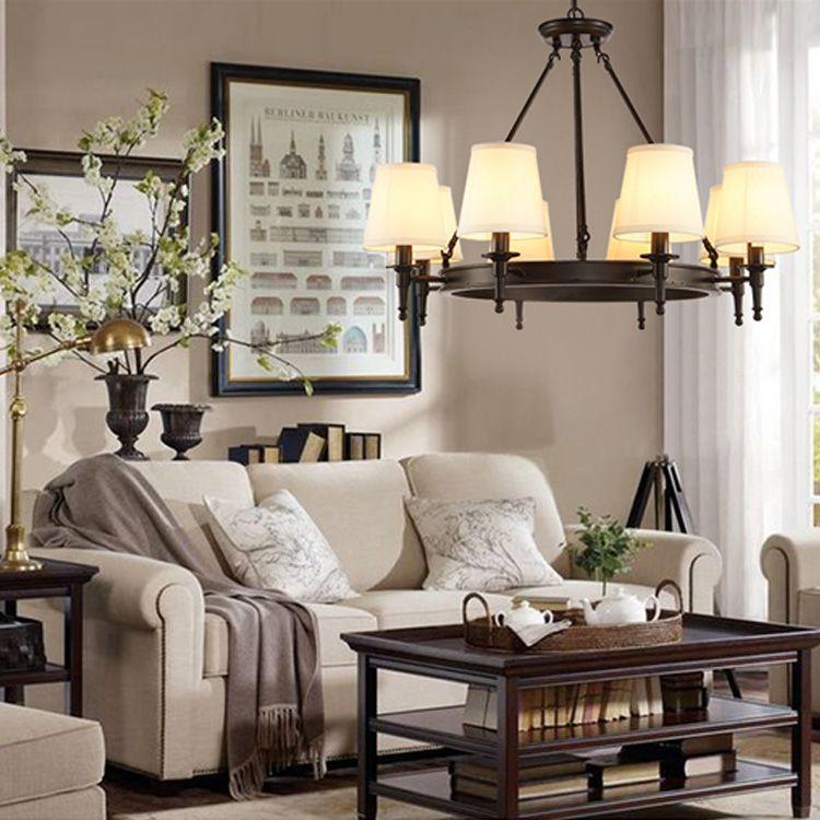 Pendant Lighting American Country Living Room Lights Led Chandelier Modern  Loft Lighting Simple Iron Dining Room Bedroom Study Room Modern Pendant  Light ...