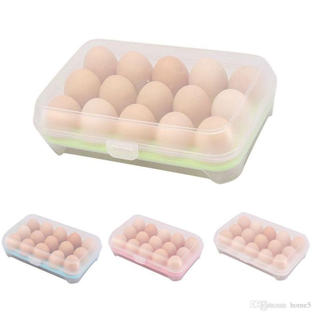 2018 15 Blank Kitchen Refrigerator Eggs Storage Box Holder ...