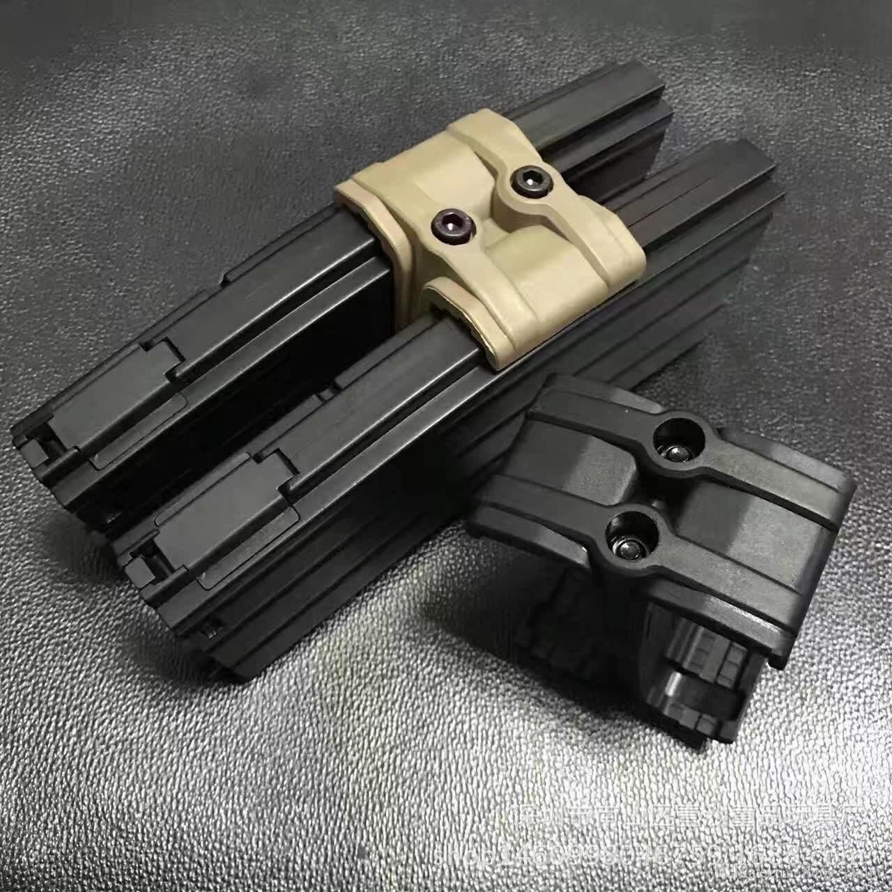 Clip di cartuccia fucile ad aria compressa in nylon da 10 pezzi all'ingrosso accessori fucili tattici M4 marrone chiaro e nero