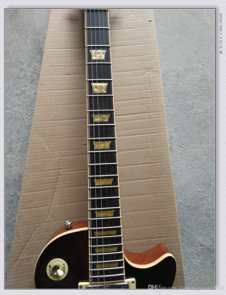 Custom Shop VOS Chá Gelado Guitarra Elétrica guitarra um pedaço de pescoço e corpo, Frete Grátis
