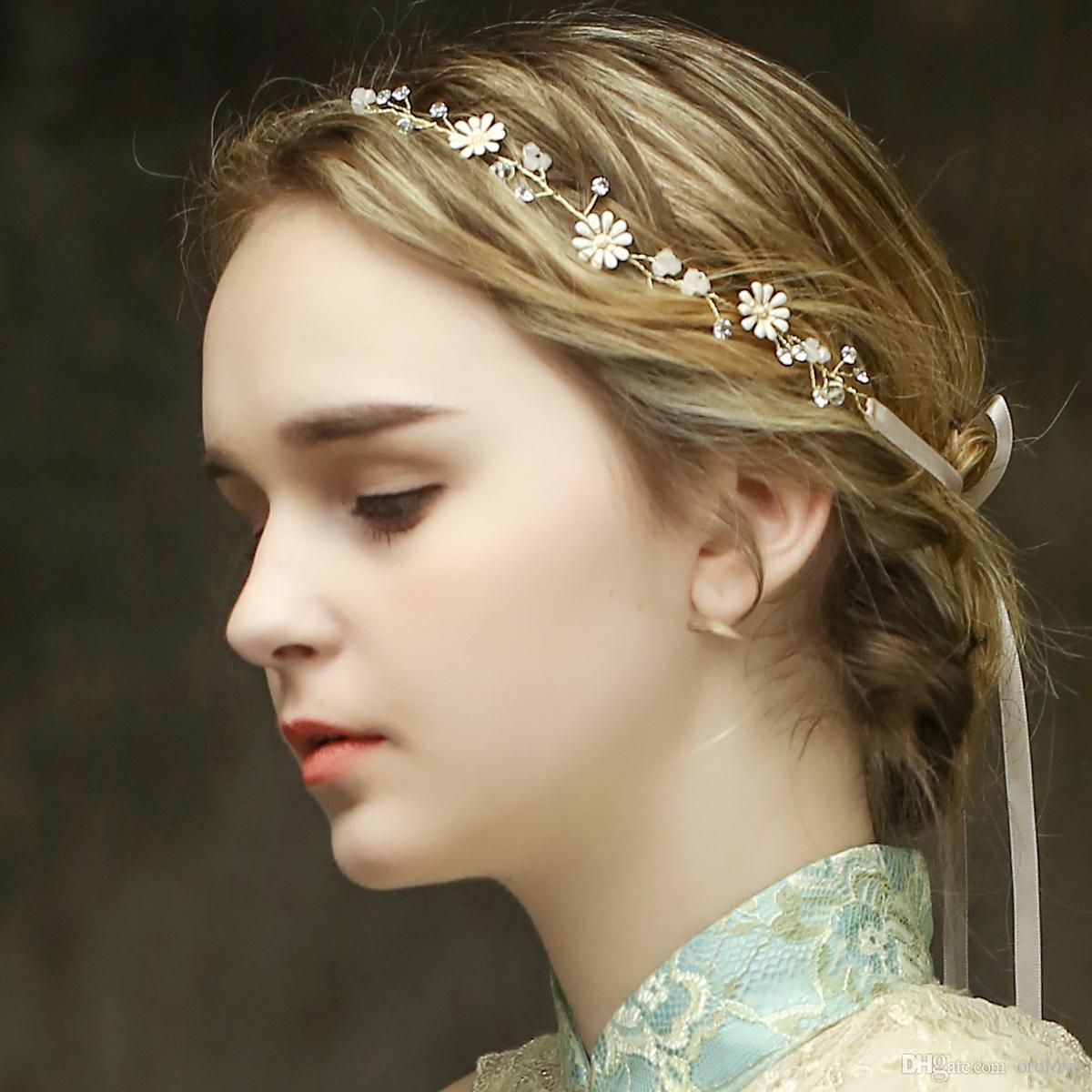 Grosshandel Einfache Blumen Haar Rebe Braut Kopfschmuck