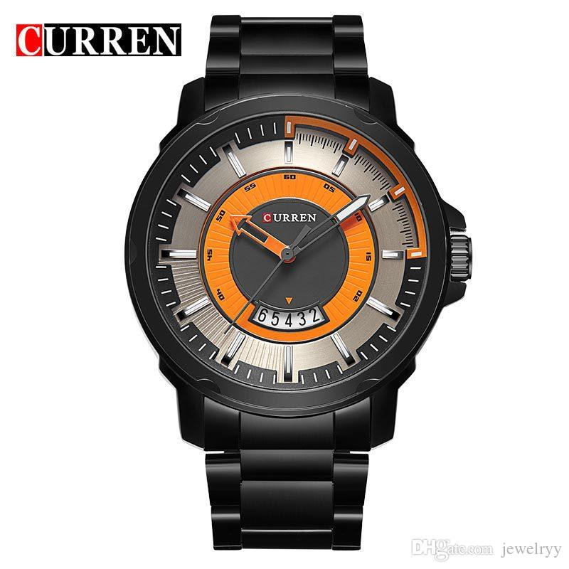 NEW CURREN watches men Top Brand Wrist watch quartz Business watch male relogio masculino men Army sports Analog Casual date Display Watch